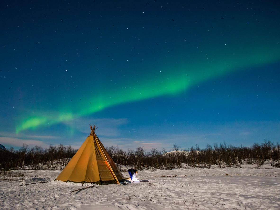 Abisko's geography makes it a good Northern Lights viewing spot