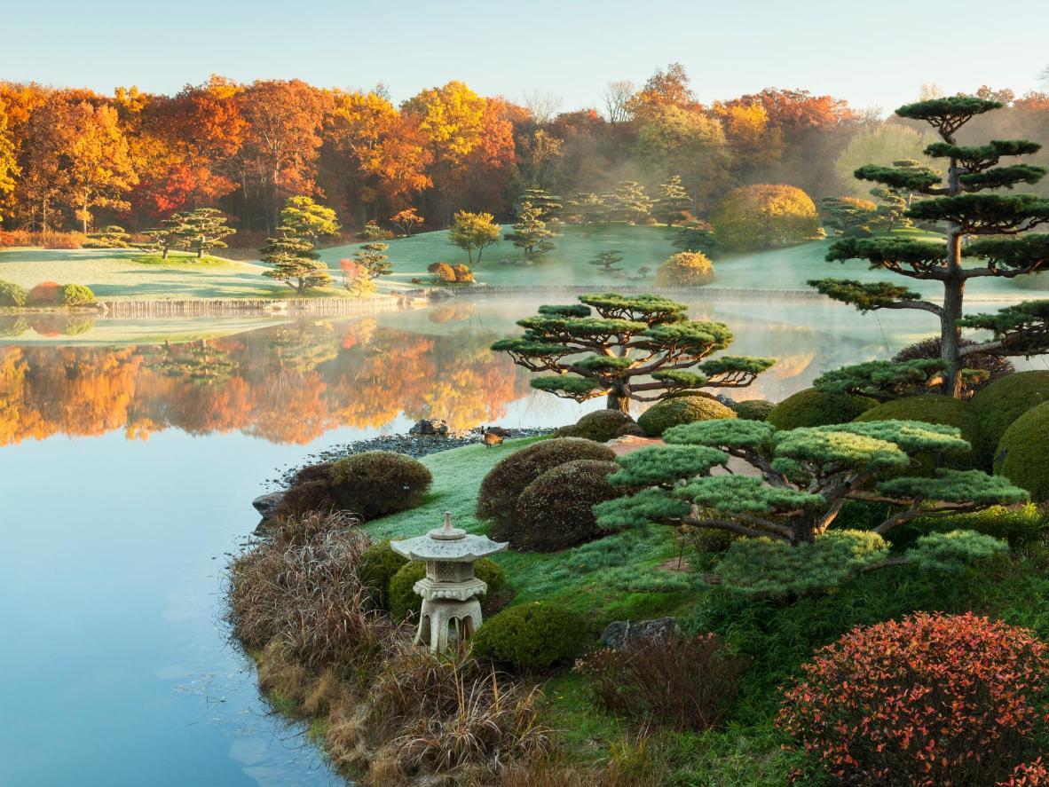 The Japanese Garden Spans Three Separate Islands