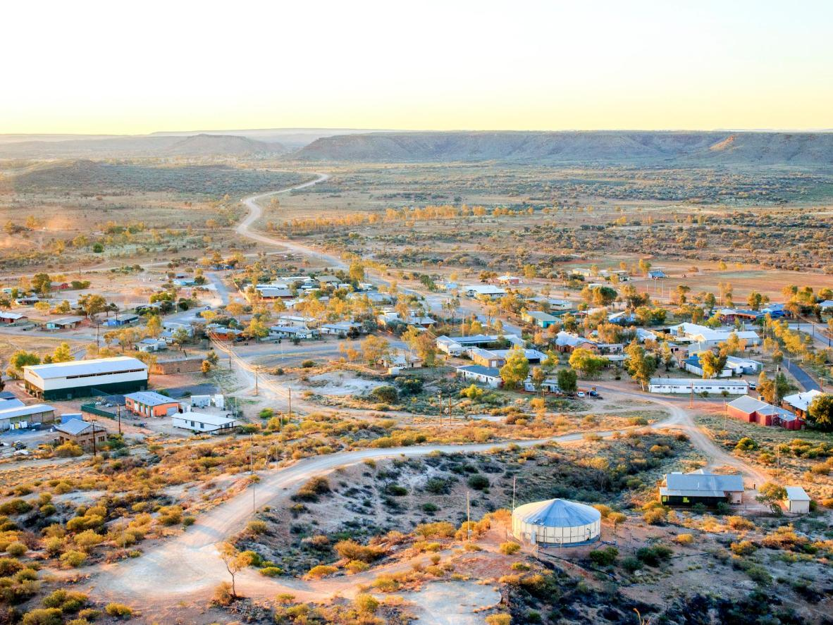 Alice Springs compte de nombreuses œuvres d'art indigènes