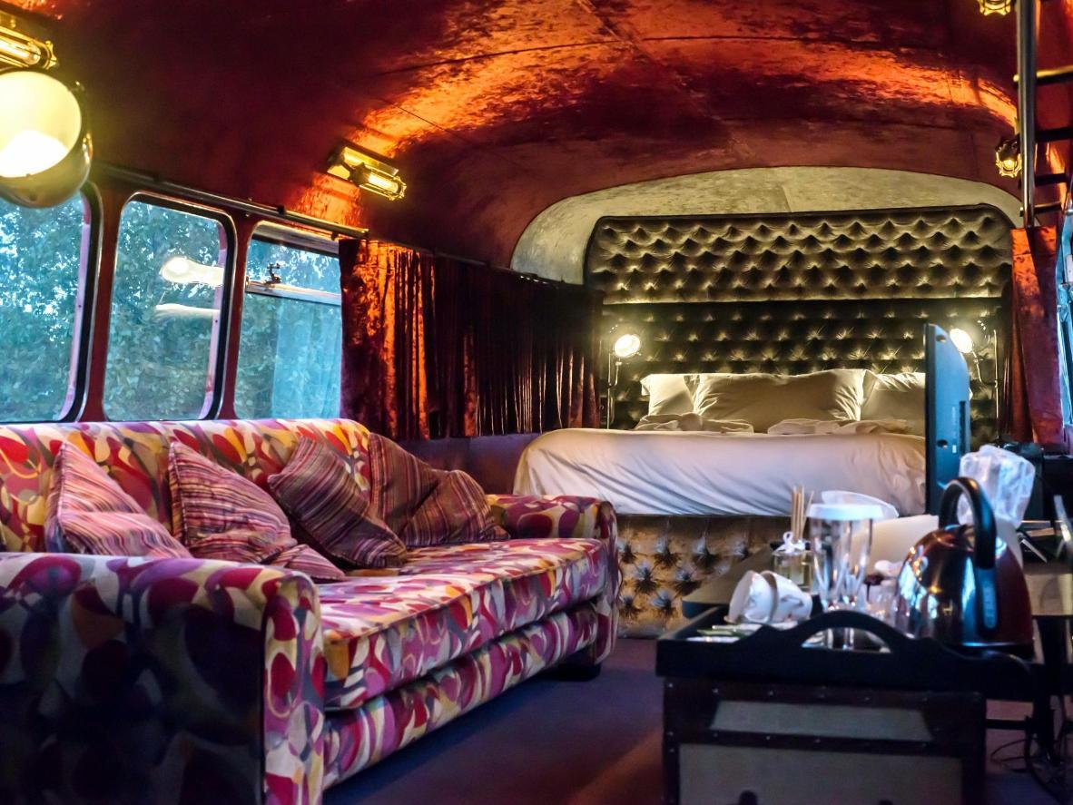 Inside the South Causey Inn caravan