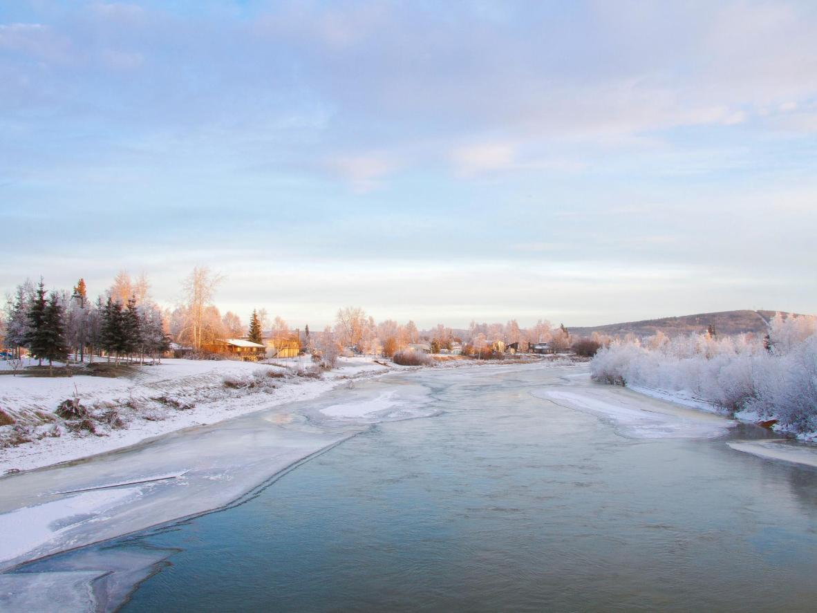 Try your luck and pan for gold in the Chena River