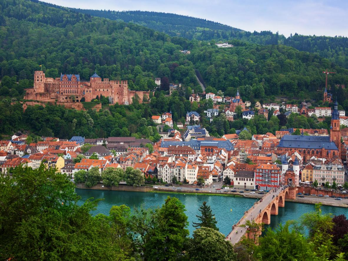 Heidelberg Castle is the most recognizable part of the city skyline