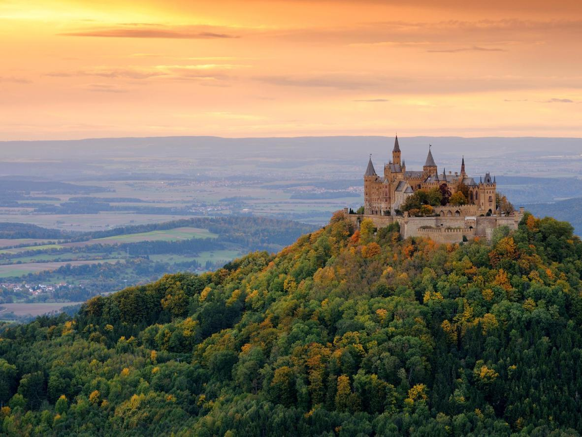 Hohenzollern Castle is the third castle to be built on Mount Hohenzollern