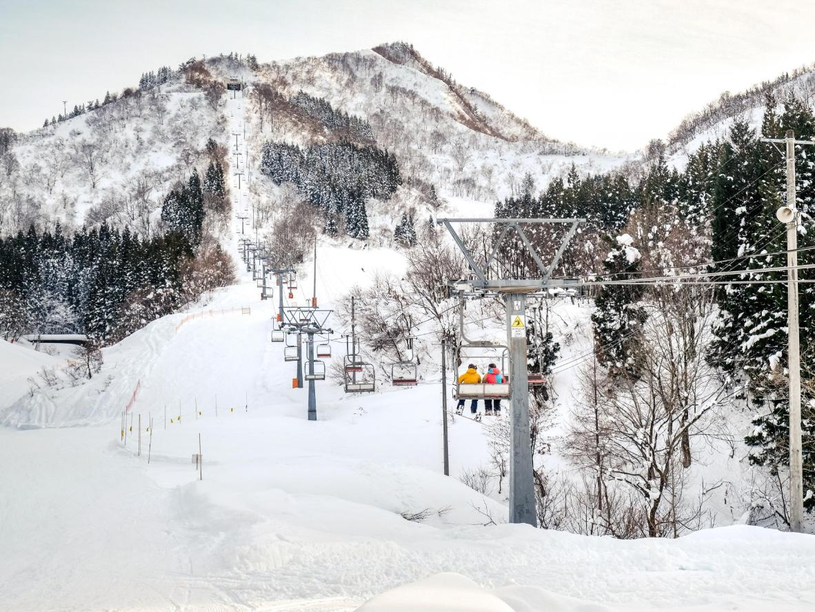 The ski lifts at the Yuzawa resort in Niigata