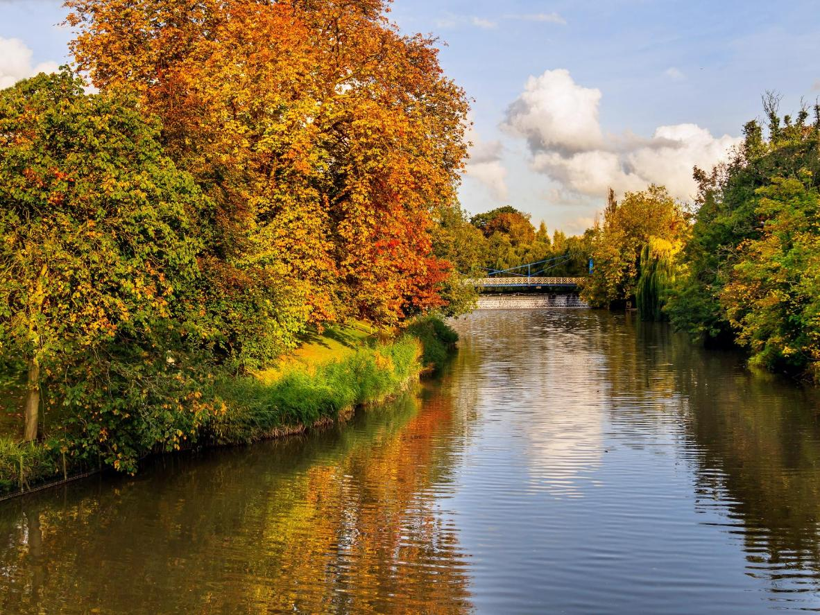 The leafy town of Royal Leamington Spa