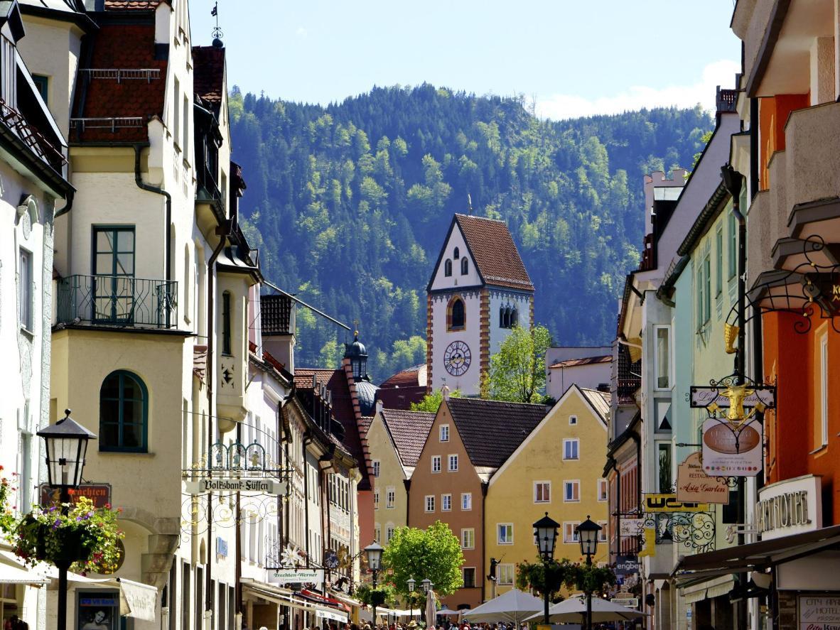 Füssen's shopfronts resemble the gingerbread houses of children's fables