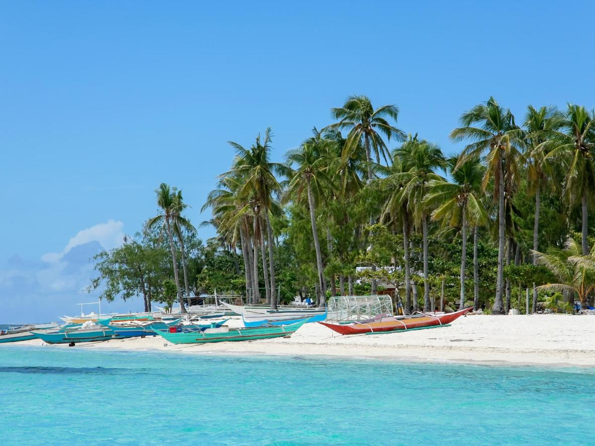 Fishing boats in Malapascua, Philippines