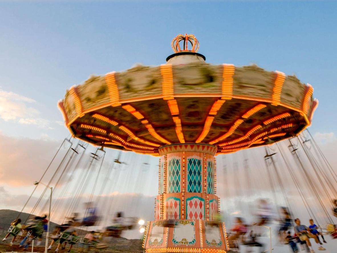 Go for a whirl on one of the 32 rides at Tusenfryd