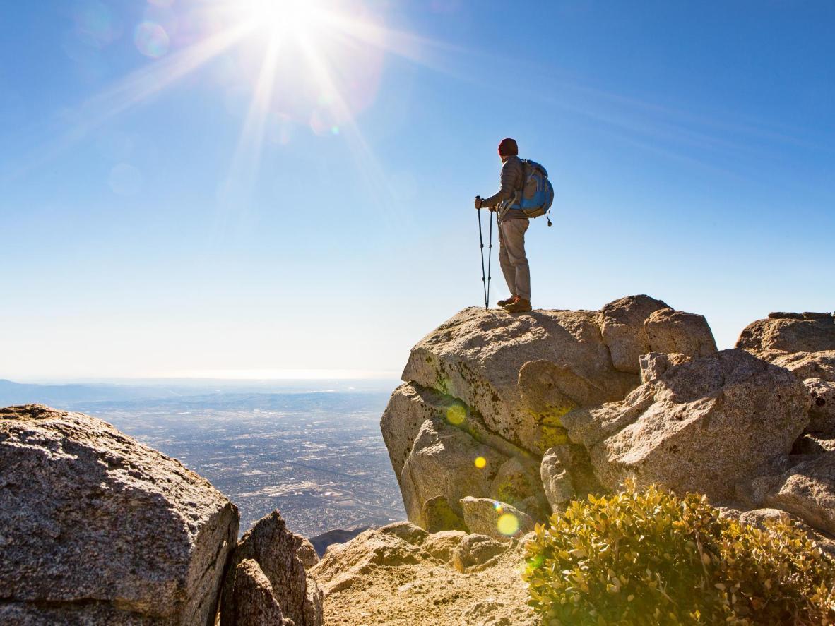 The Cucamonga Peak viewpoint in California