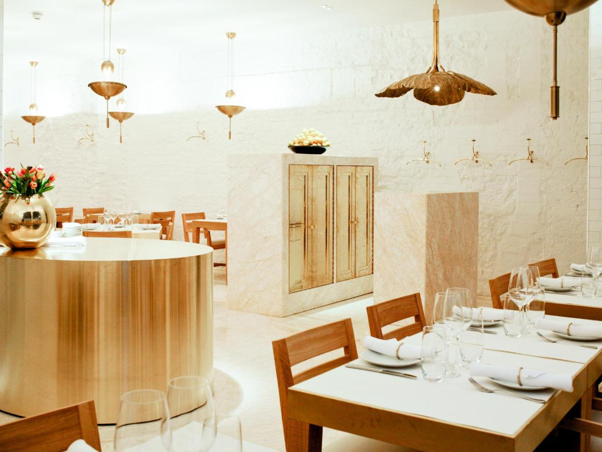 The clean interiors of Nopi, London