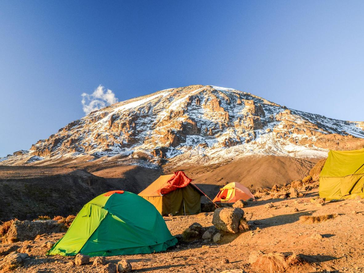 It can take between five and nine days to summit Kili