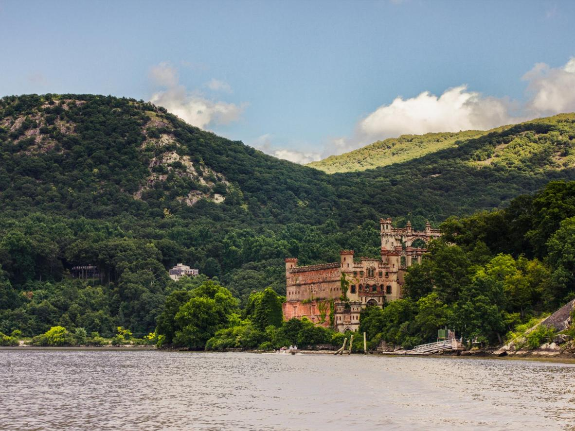 Pollepel Island is home to not one, but two castles