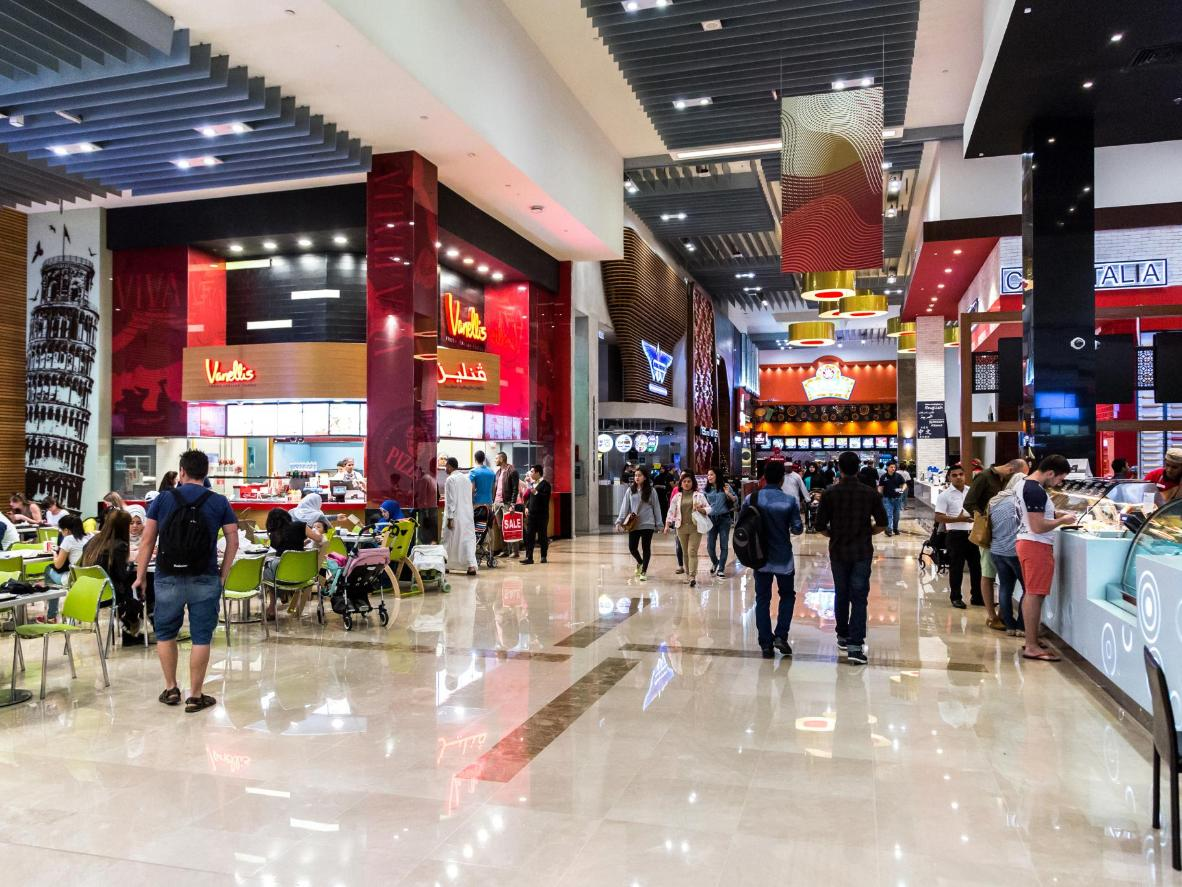 The Dubai Mall food court, home to over 30 fast food favourites