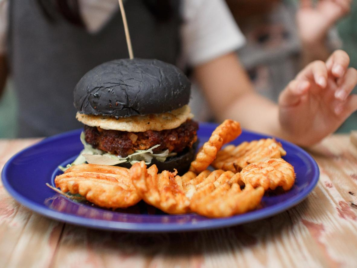 Charcoal buns are a popular food trend in Malaysia