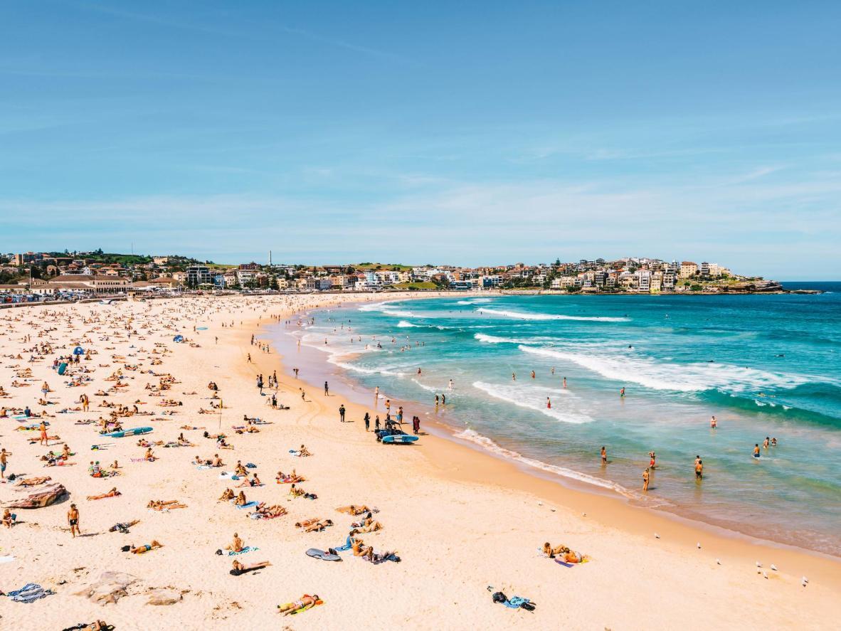 Relaxing on Bondi Beach in Sydney