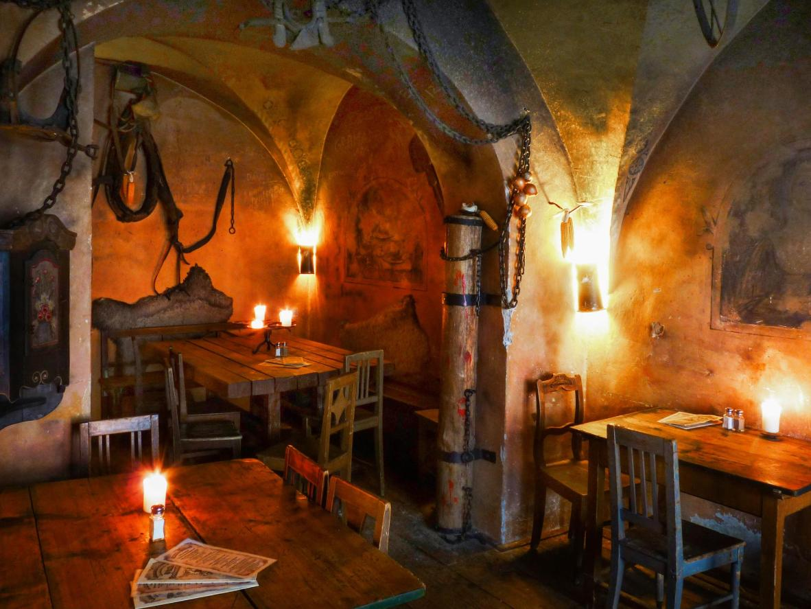 Experience a rowdy feast at this medieval tavern in Prague