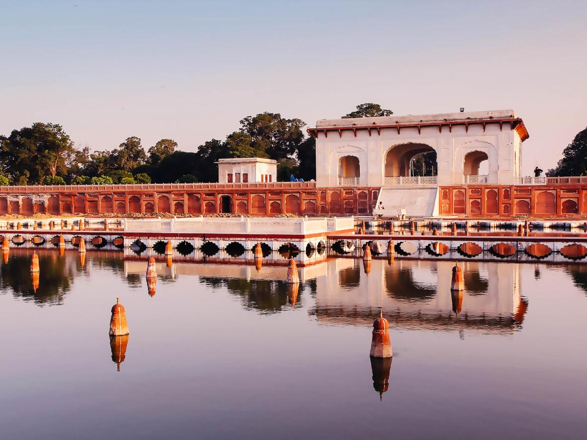 Shalimar Gardens in Lahore at sunset