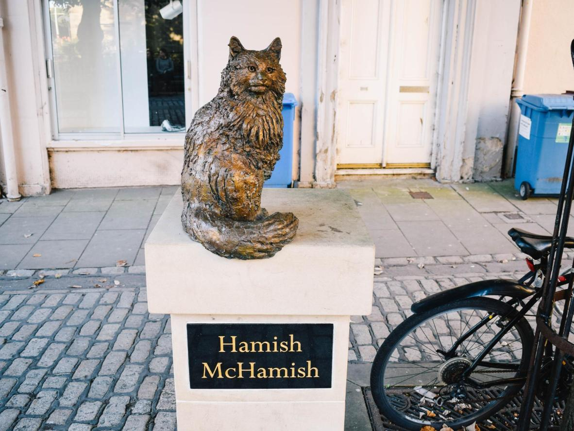 The Hamish McHamish memorial statue in St. Andrews, Credit Michael Laing