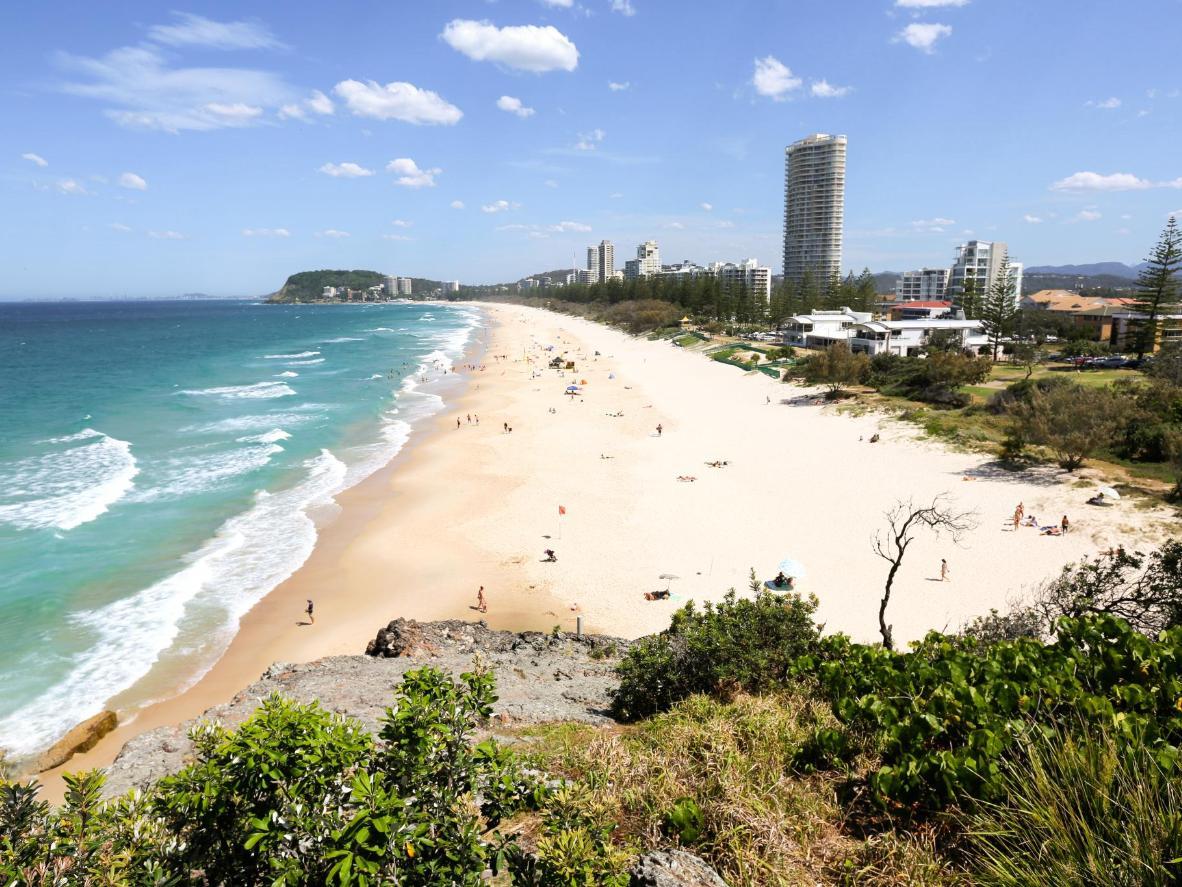 North Burleigh Beach in Queensland, Australia