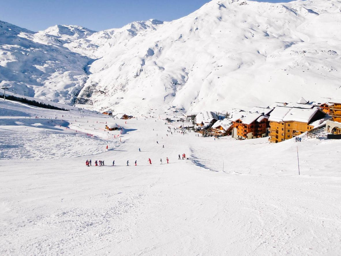 Staying in Les Menuires, you'll have access to the largest ski area in the world