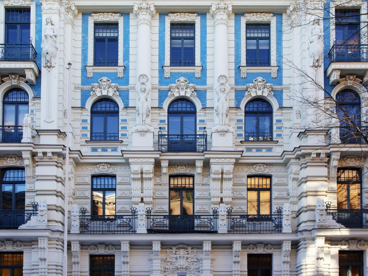 The city's historic Art Nouveau buildings