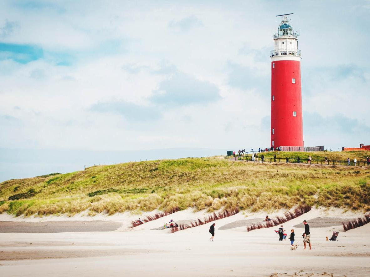 The red lighthouse on Texel
