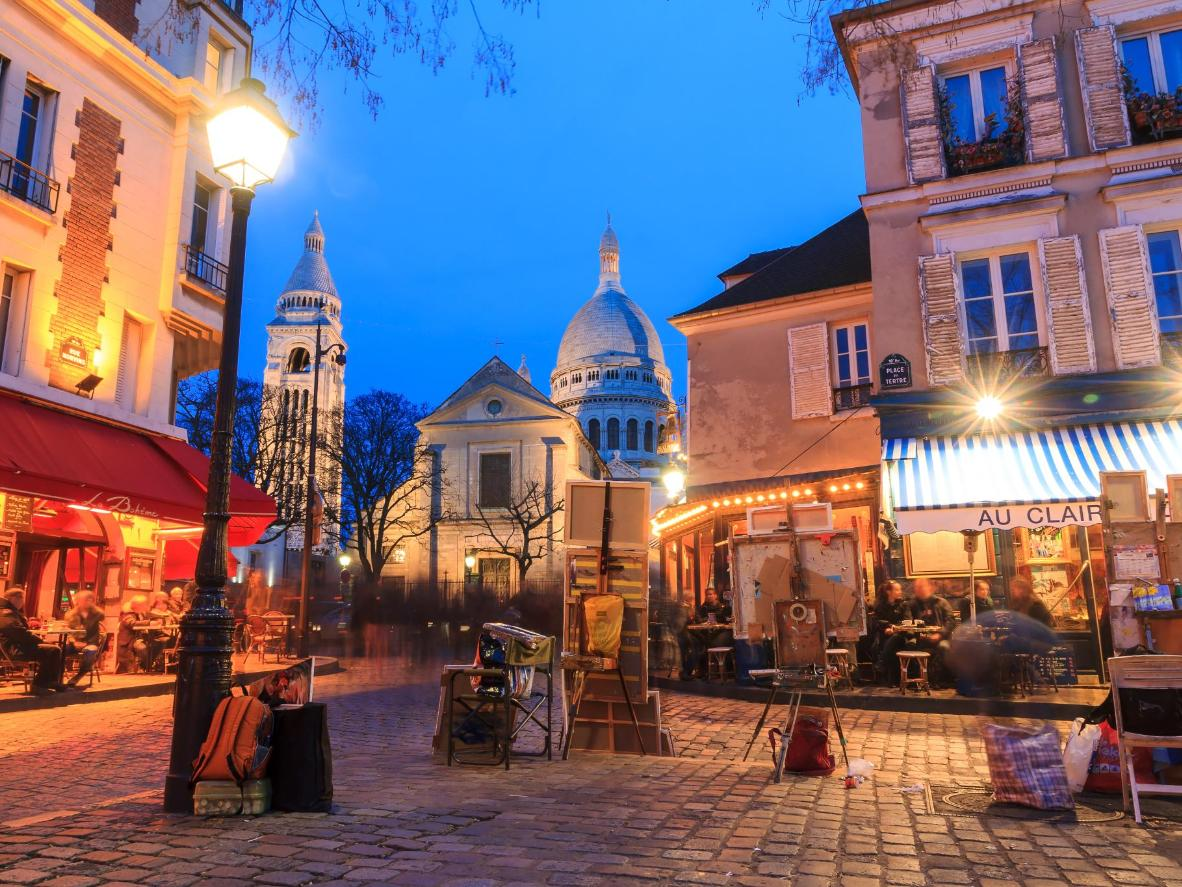 The Place du Tertre in Montmartre