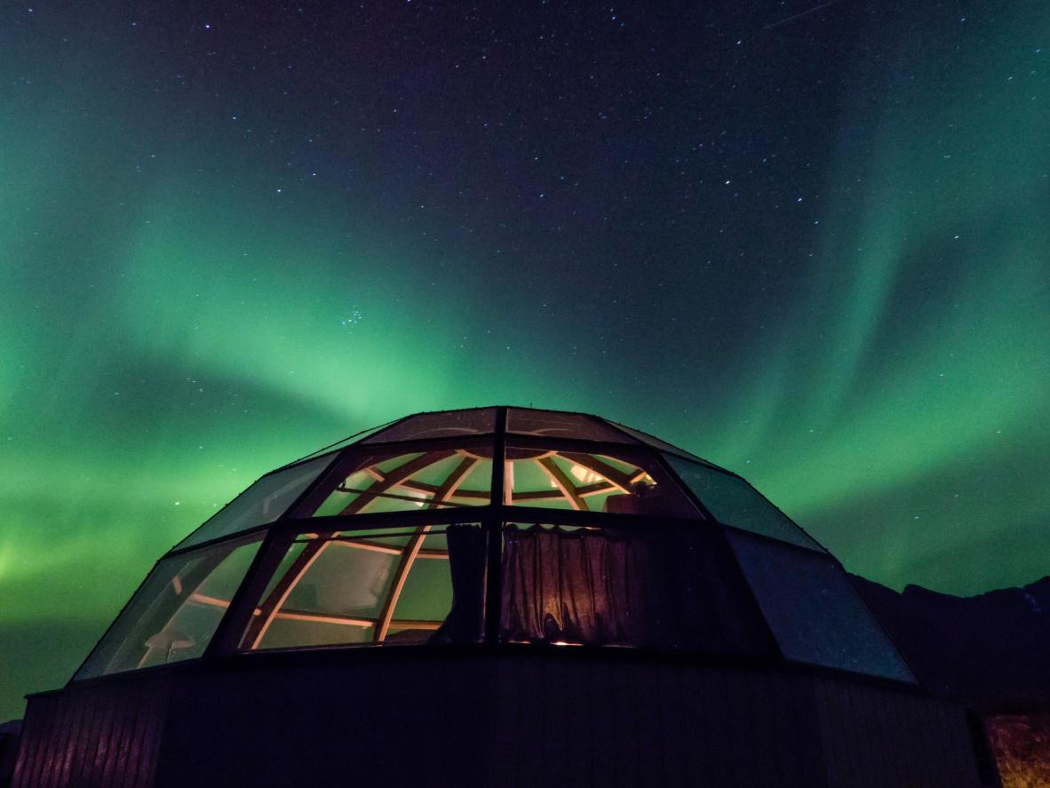 Watch the northern lights from the comfort of your own bed in Norway