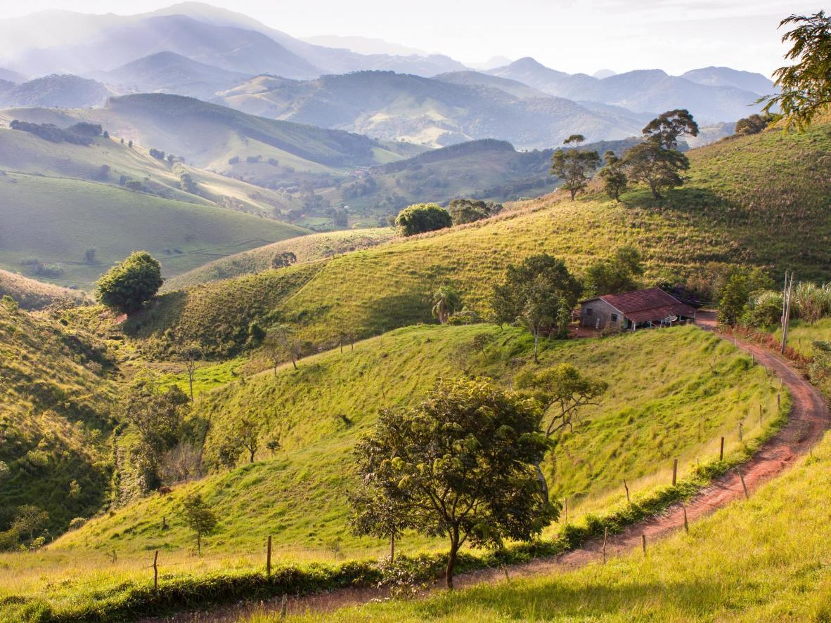 The green valleys of Campos do Jordão