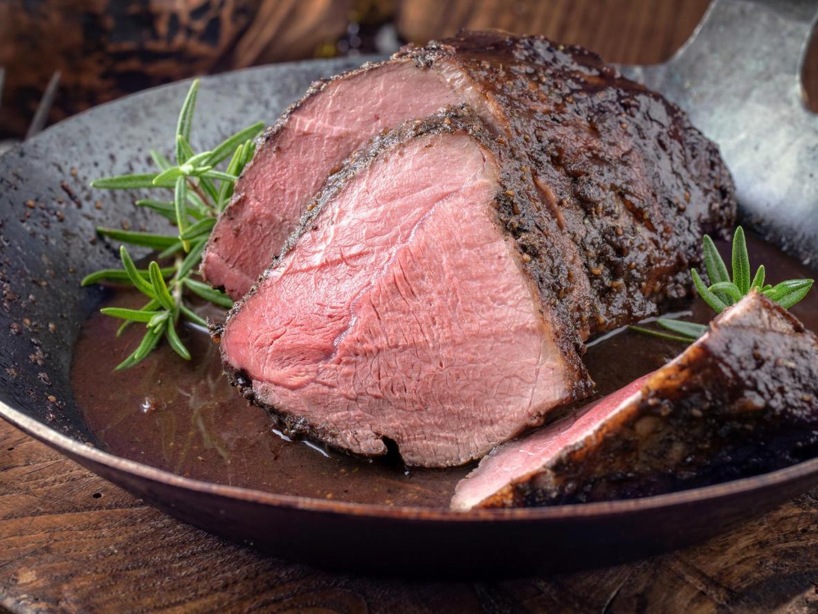 Roast boar neck