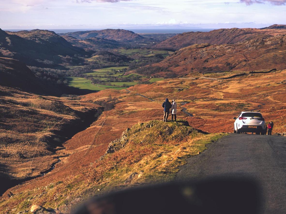 El Hardknott Pass en Cumbria, Reino Unido