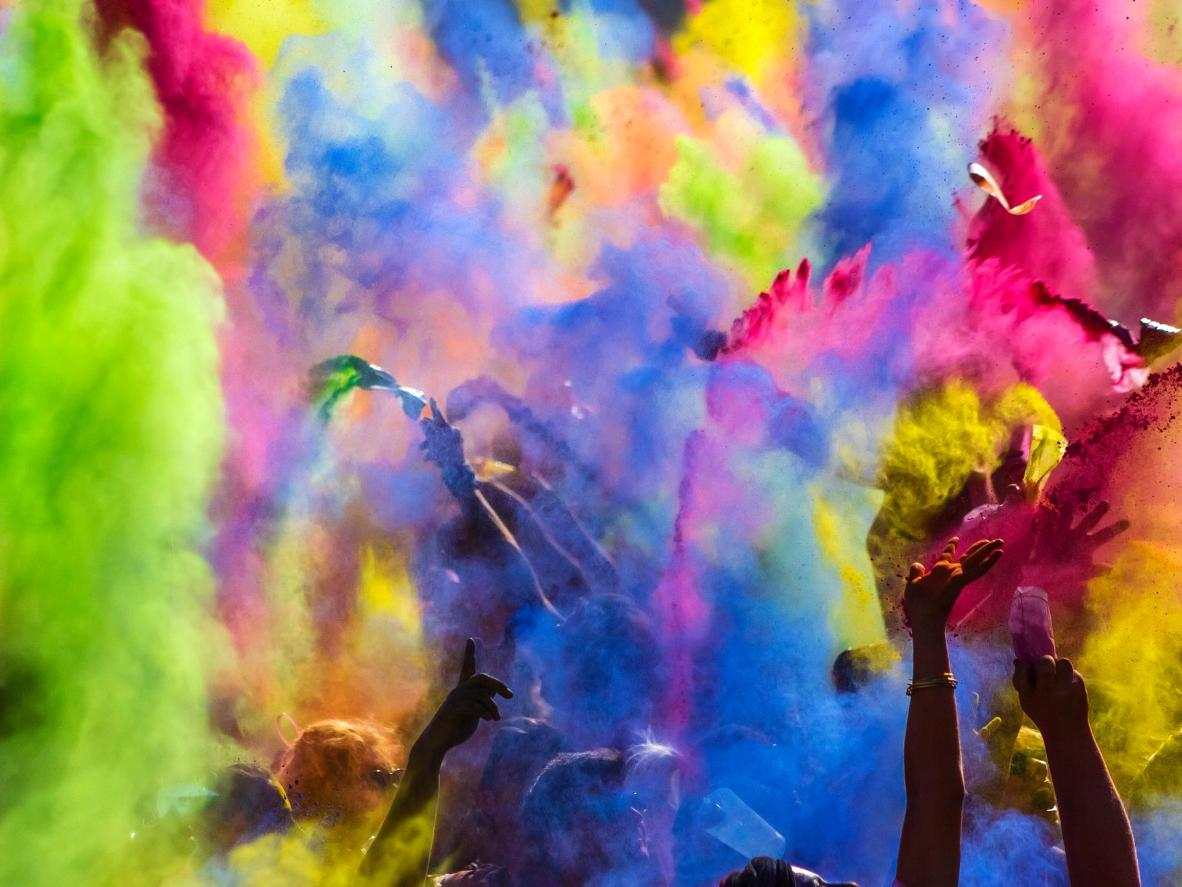 Holi takes over several German cities but Berlin is the wildest