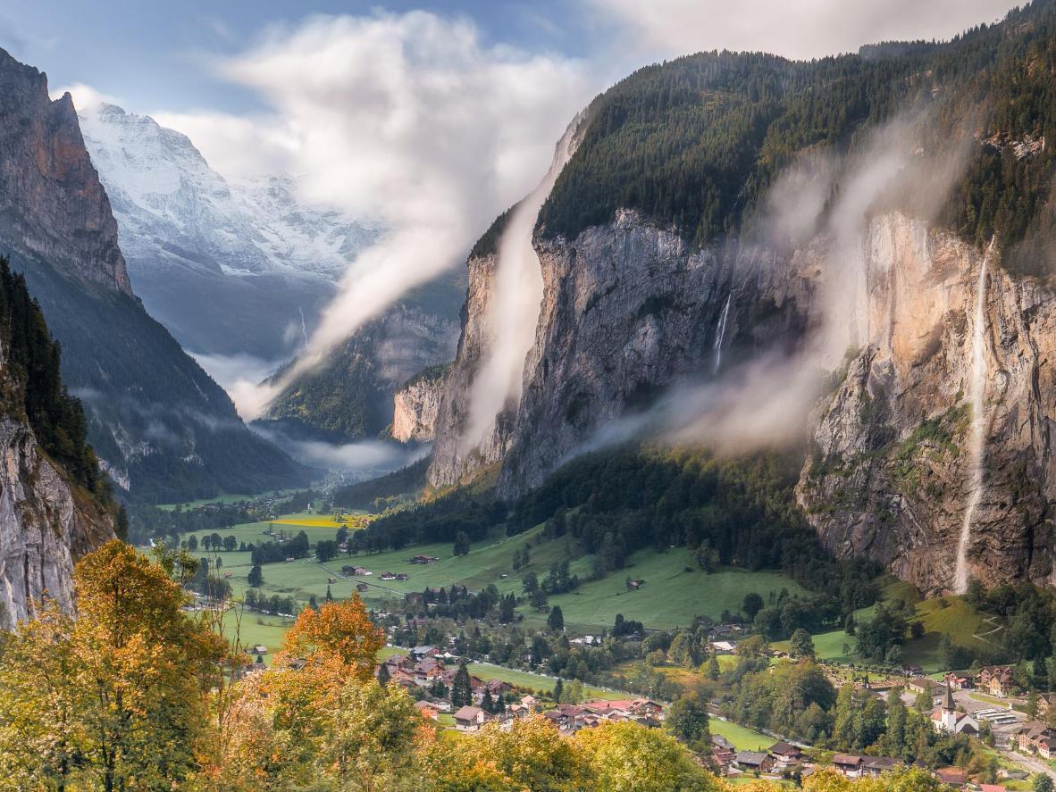 J. R. R. Tolkien se inspiró en Lauterbrunnen para crear Rivendell, el reino de los elfos
