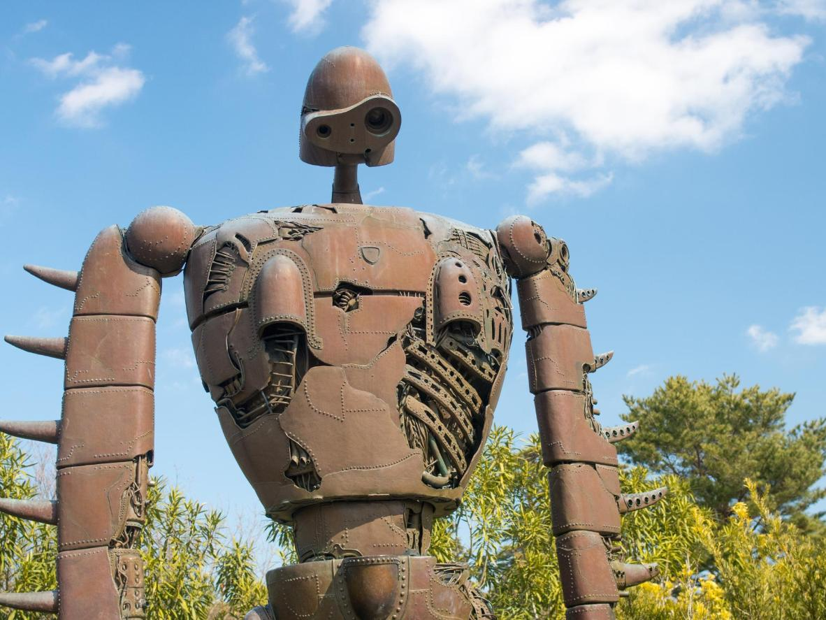 The Robot Soldier statue at Ghibli Museum