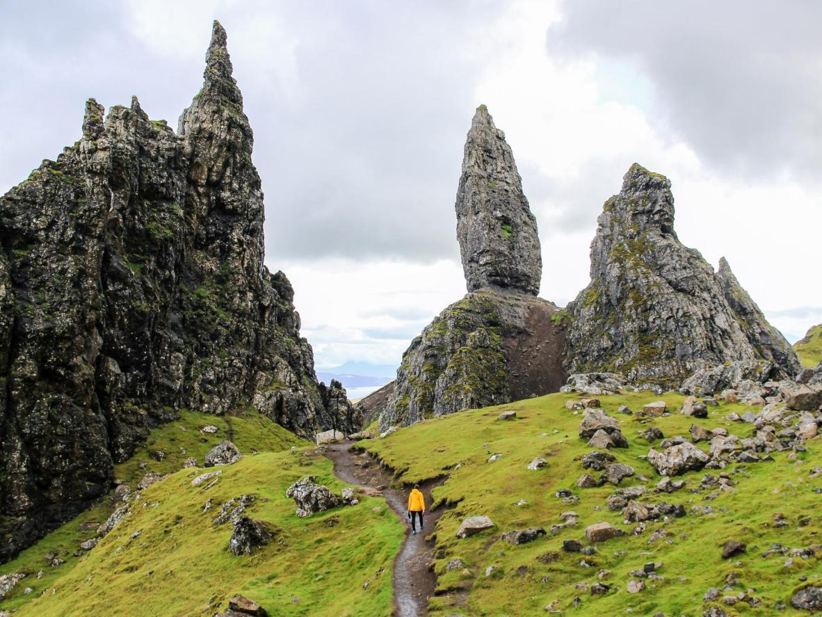 The rocky pinnacle known as The Old Man of Storr, Skye