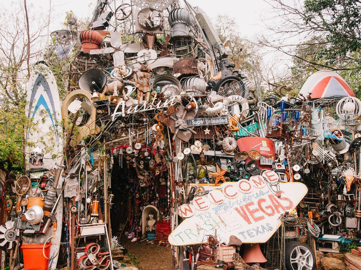 Photo by Alfred J.Reich / Cathedral of Junk in Austin, Texas