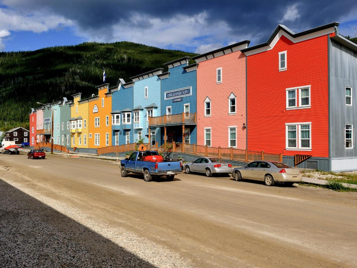 Dawson City is famous for its frontier-style buildings