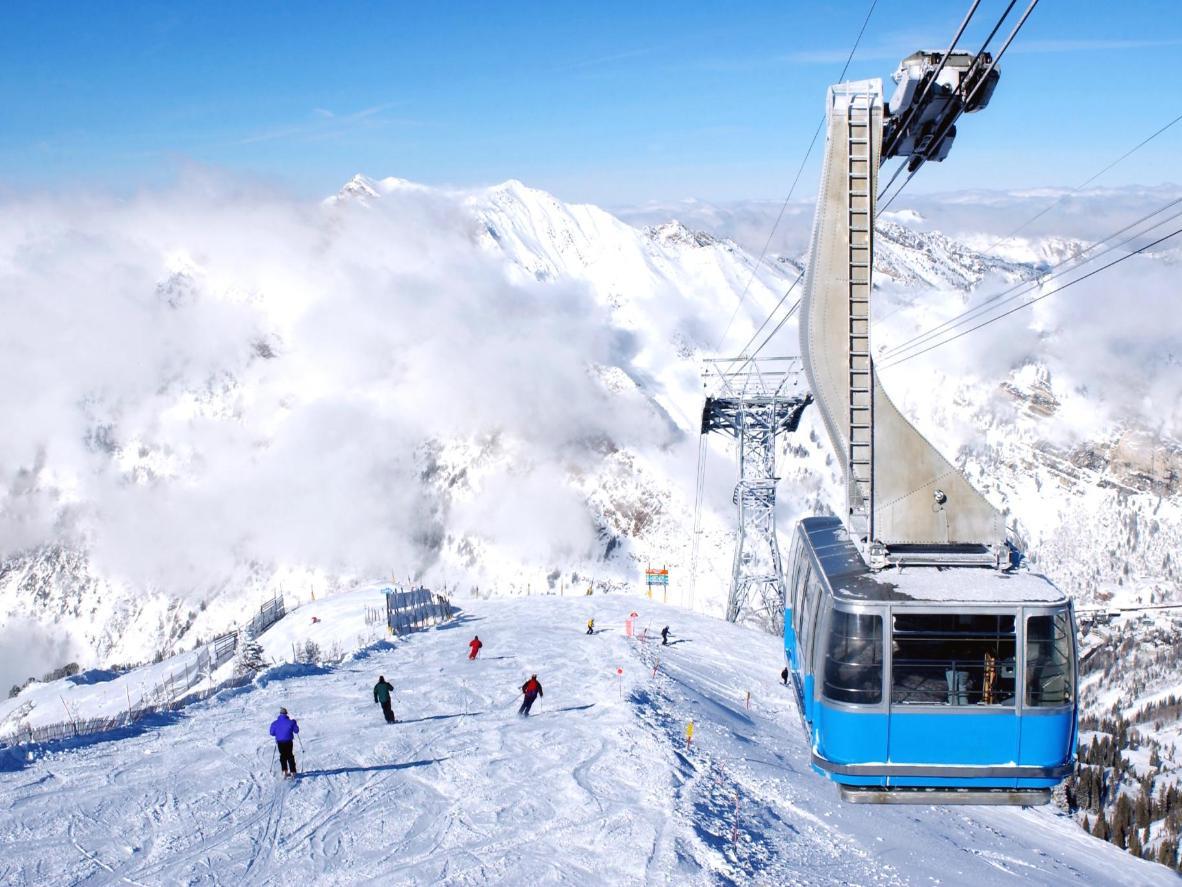 Snowbird ski resort in Utah
