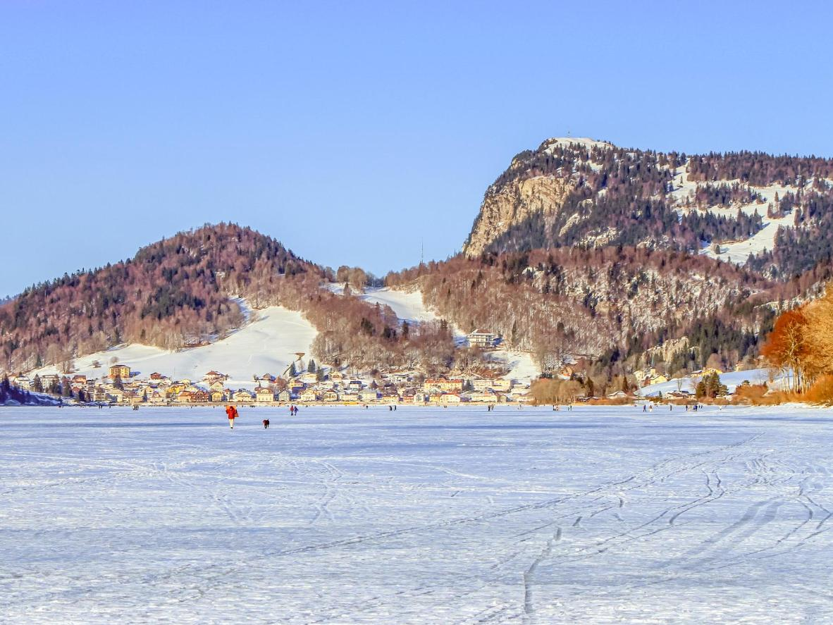 Lac de Joux is Europe's largest outdoor skating rink