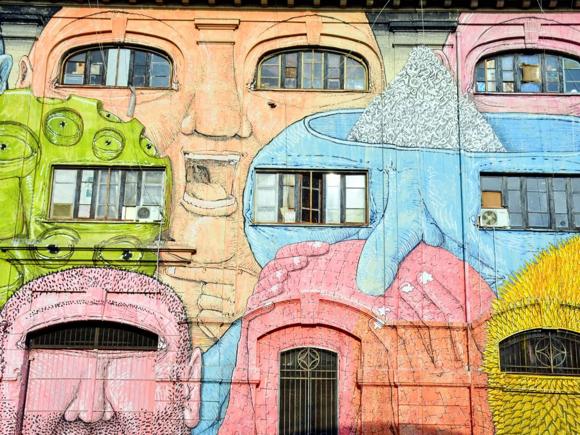 Street art in the Garbatella neighbourhood