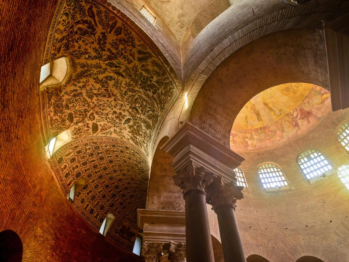 The circular mausoleum of Santa Costanza