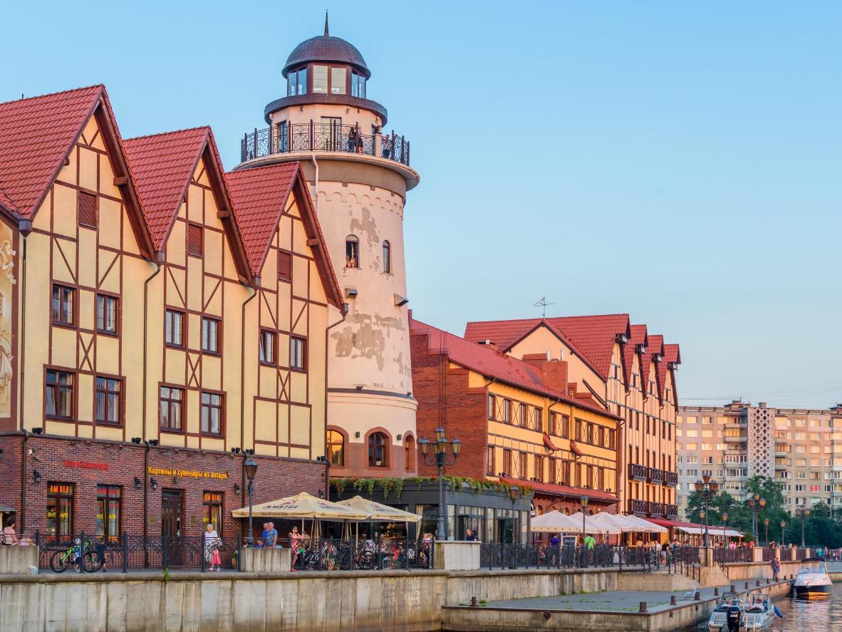The waterfront Kaliningrad Fishing Village