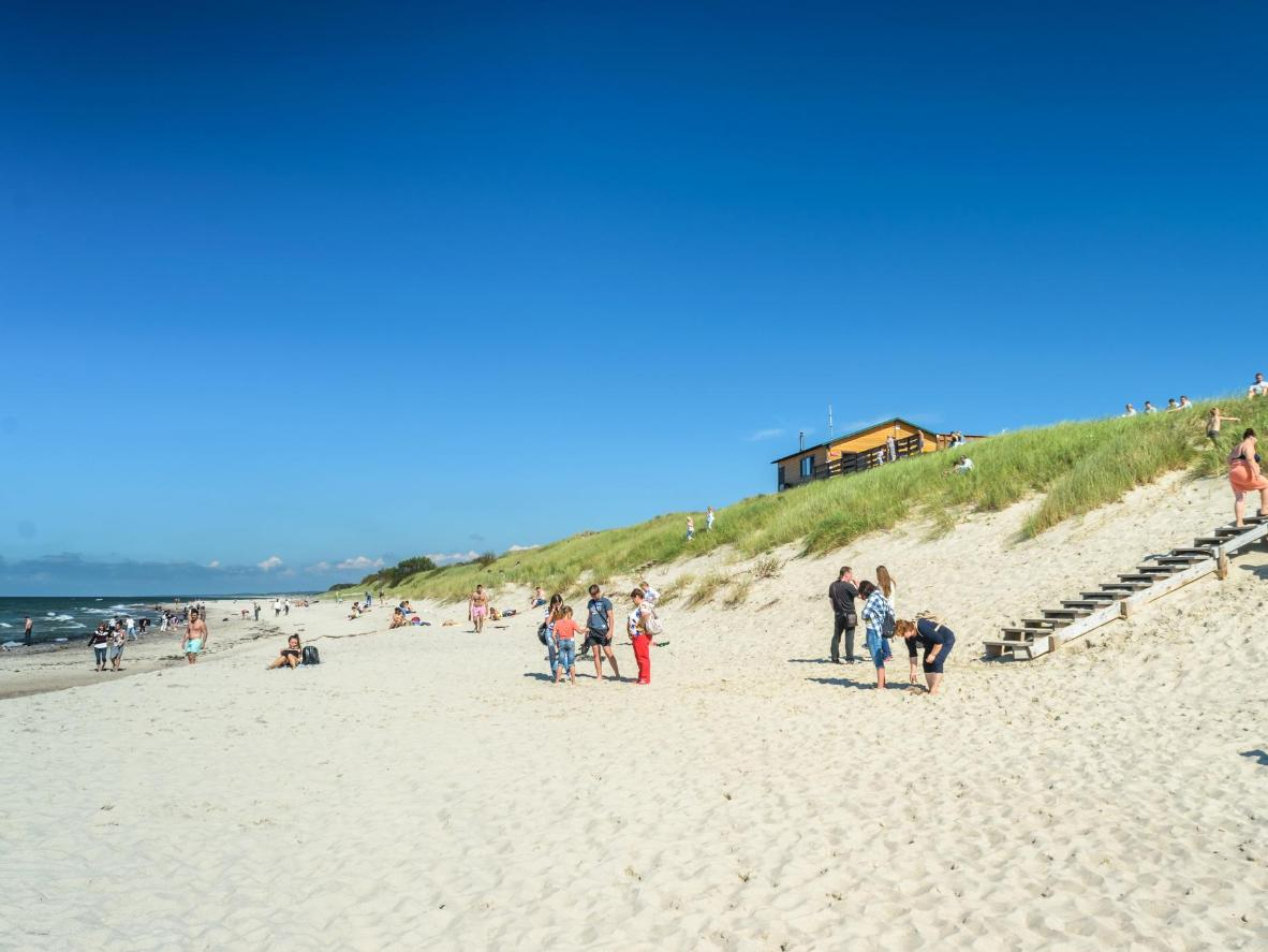 One of the many beaches along the Curonian Spit
