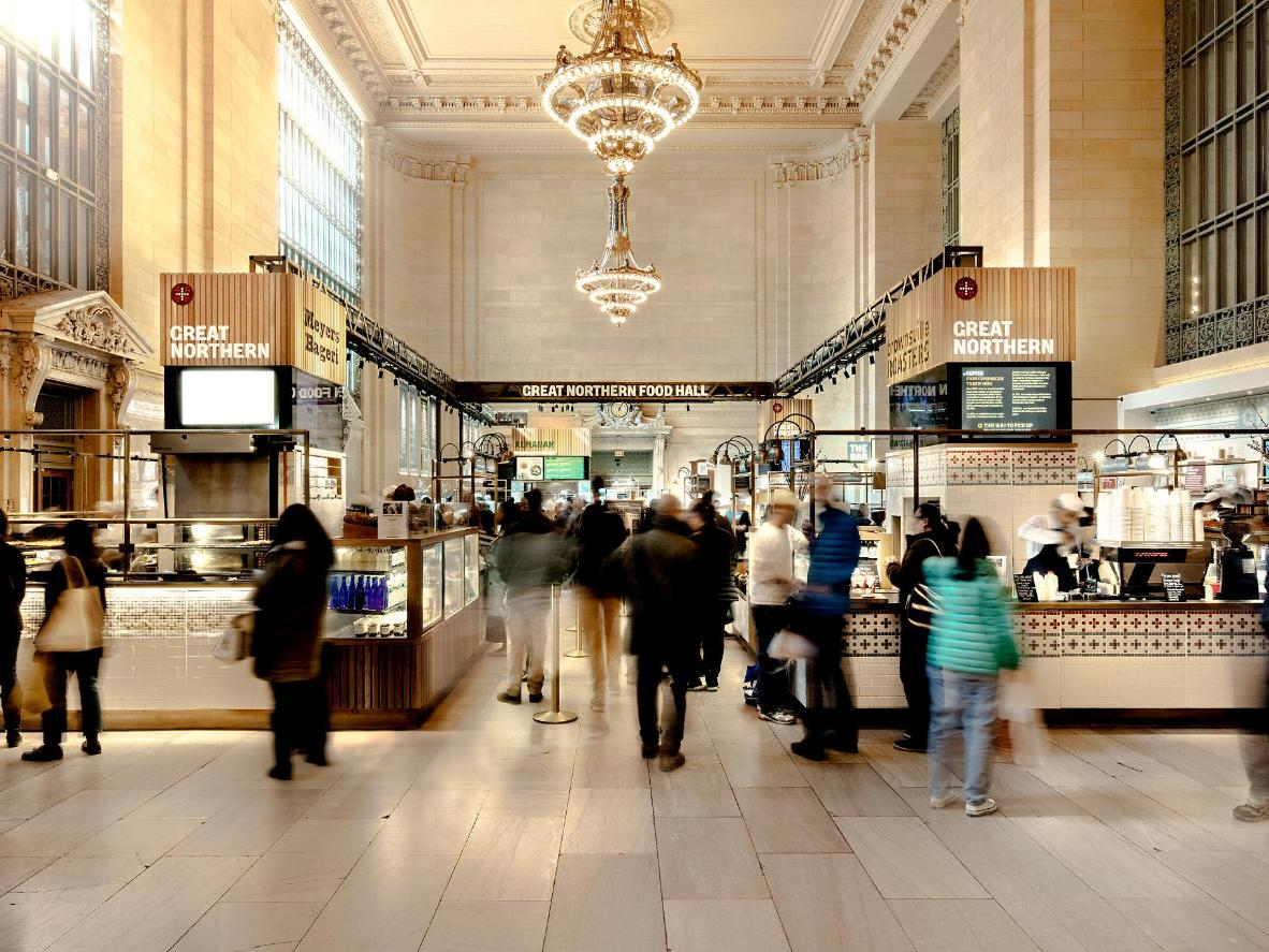 The Great Northern Food Hall in Grand Central Station