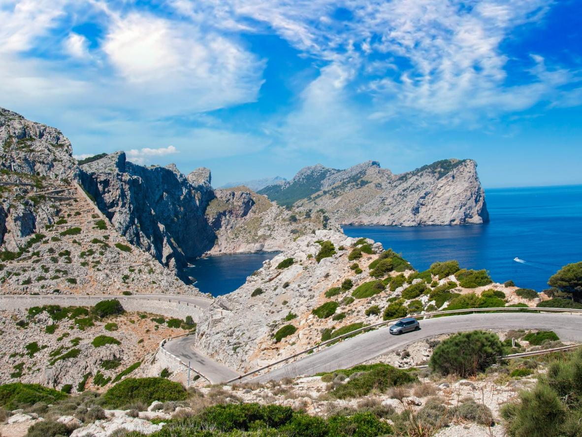 The winding mountain road to Cap de Formentor is oh-so-worth the early morning starts