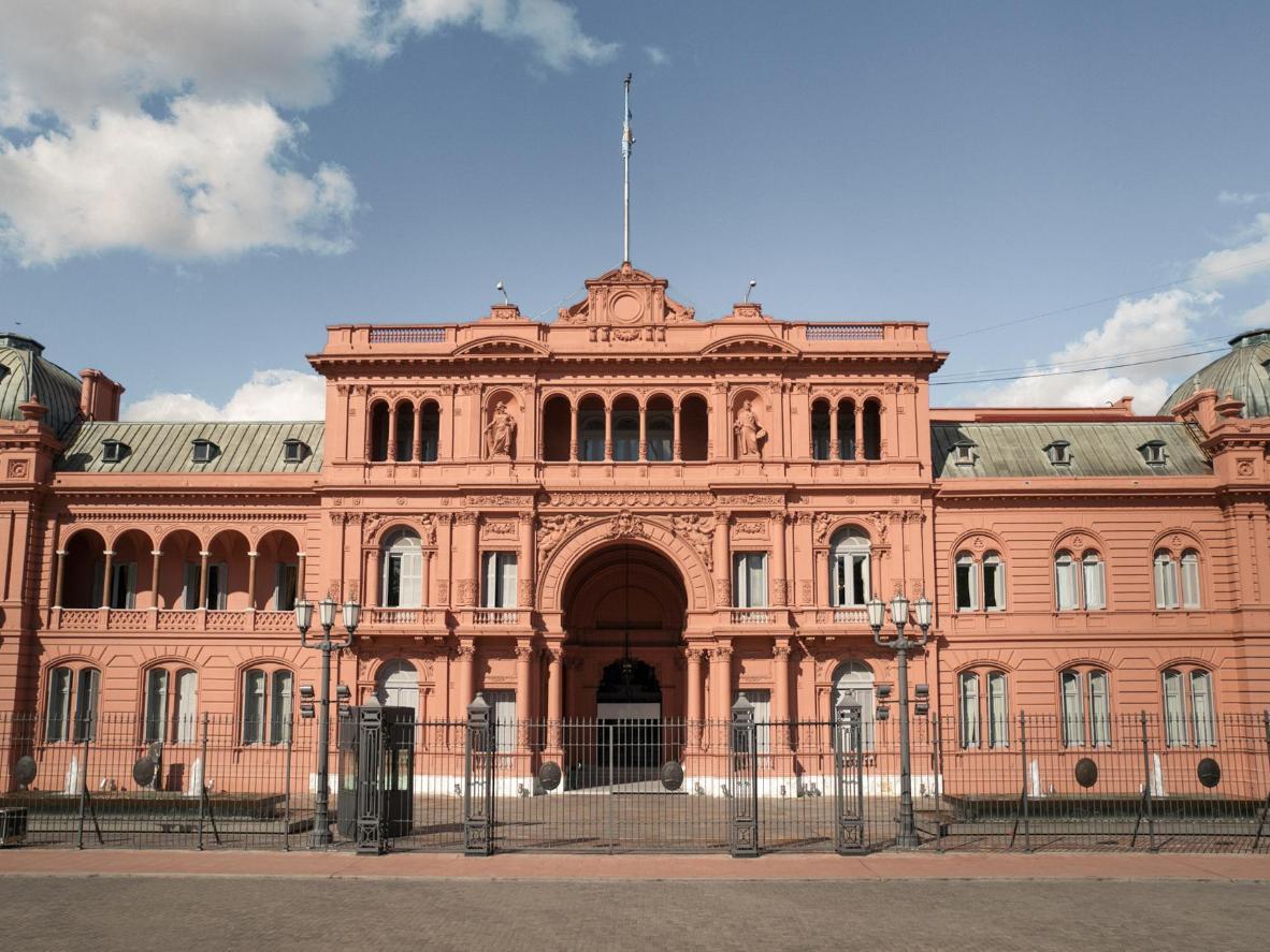 La Casa Rosada where Eva Perón spoke to the country