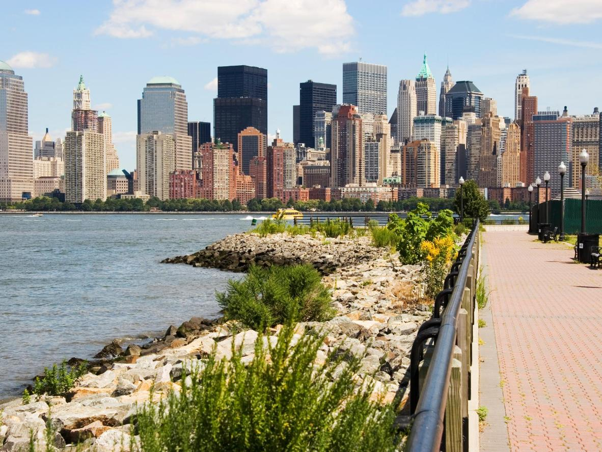 The view from Liberty State Park