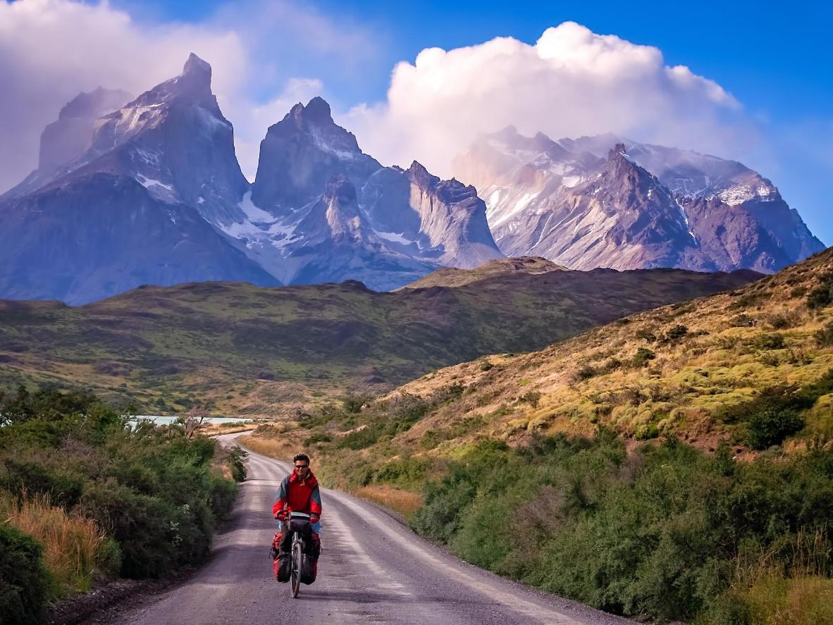 The cliffs of Los Cuernos in National Park Torres del Paine