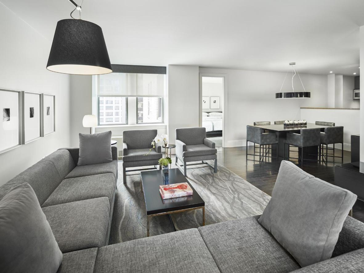Apartments feature high-quality furnishings and open-plan living areas