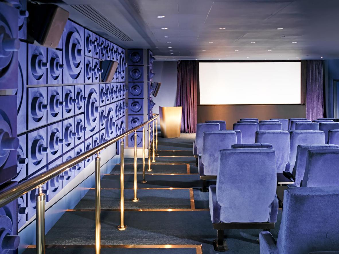 The 56-seat cinema at the Mondrian London